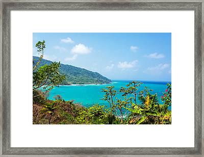 Panama Coast View Framed Print by Jess Kraft