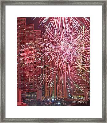 Panama Fireworks Framed Print by Bob Hislop