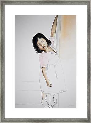Panama Girl Framed Print