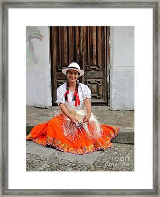 Panama Hat Maker Framed Print by Al Bourassa