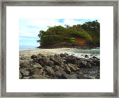 Panama Island Framed Print by Carey Chen