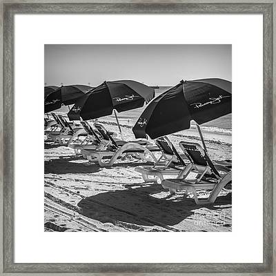 Panama Jack Blues - Higgs Beach - Key West - Square - Black And White  Framed Print