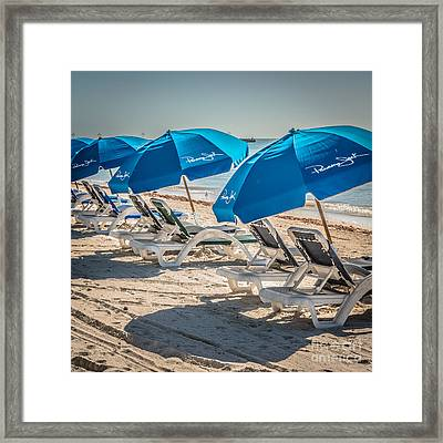 Panama Jack Blues - Higgs Beach - Key West - Square - Hdr Style Framed Print by Ian Monk