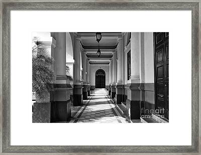 Panama National Theatre Mono Framed Print