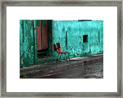 Panama Red Framed Print by John Rizzuto