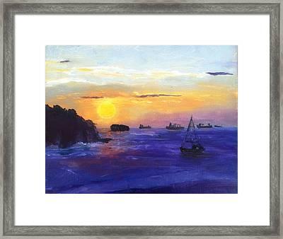 Panama Sunrise Framed Print