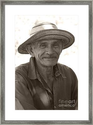 Panamanian Country Man Framed Print by Heiko Koehrer-Wagner