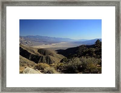 Panamint Valley November 21 2014 Framed Print