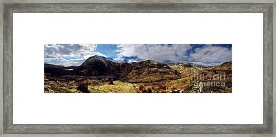 Panaramic Snowdonia Mountains Framed Print