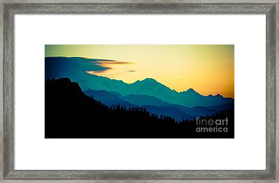 Panaramic Sunrise In Himalayas Artmif Photo Raimond Klavins Framed Print by Raimond Klavins