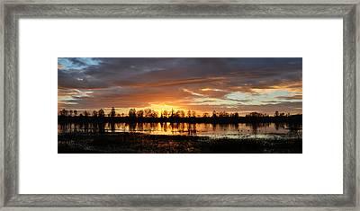 Panaroma Sunrise 02092015 Framed Print
