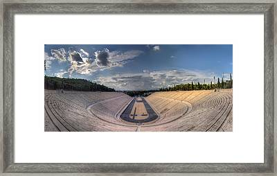 Framed Print featuring the photograph Panathenaic Stadium by Micah Goff