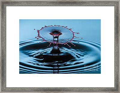 Pancake Water Splash Framed Print