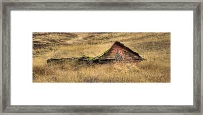 Pancake Barn Framed Print by Jean Noren