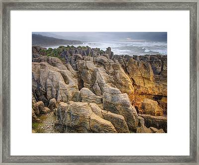 Pancake Rock Framed Print