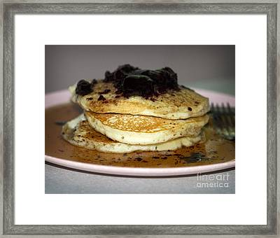 Pancake Stack Framed Print by John Stephens