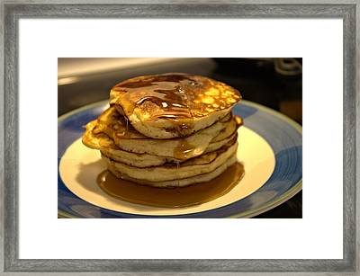 Pancakes For Breakfast Framed Print