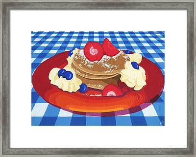 Pancakes Week 10 Framed Print