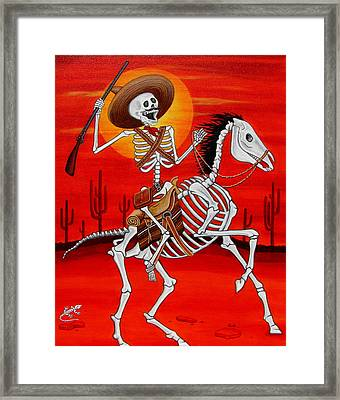 Pancho Villa Framed Print by Evangelina Portillo