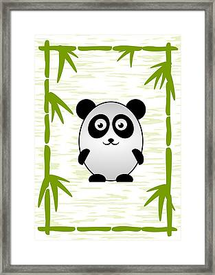 Panda - Animals - Art For Kids Framed Print by Anastasiya Malakhova