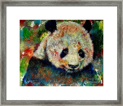 Panda Bear Framed Print by Anastasis  Anastasi
