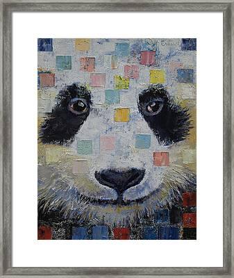 Panda Checkers Framed Print
