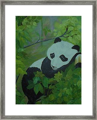Framed Print featuring the painting Panda by Christy Saunders Church