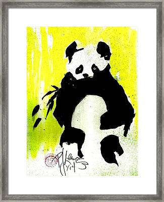 Panda Haiku Framed Print by P J Lewis