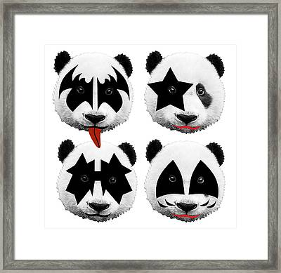Panda Kiss  Framed Print