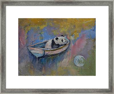 Panda Moon Framed Print by Michael Creese