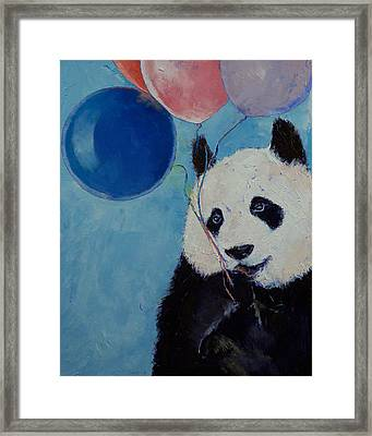 Panda Party Framed Print by Michael Creese
