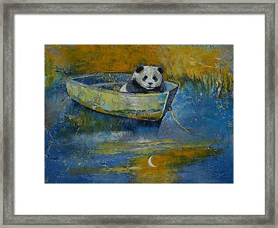 Panda Sailor Framed Print by Michael Creese