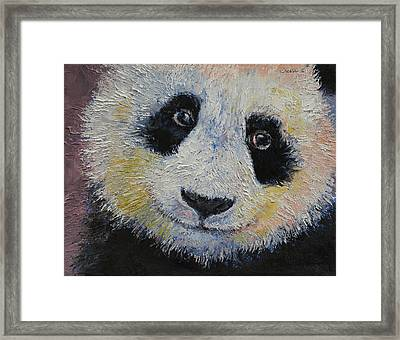 Panda Smile Framed Print by Michael Creese