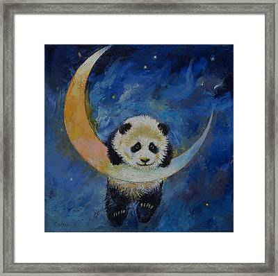 Panda Stars Framed Print by Michael Creese
