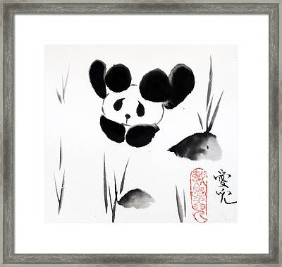 Panda Time Framed Print by Oiyee At Oystudio