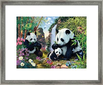 Panda Valley Framed Print
