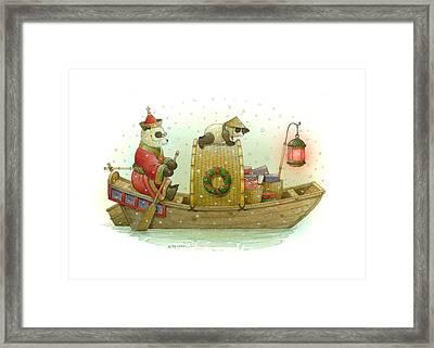 Pandabears Christmas Framed Print by Kestutis Kasparavicius