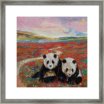 Panda Paradise Framed Print by Michael Creese