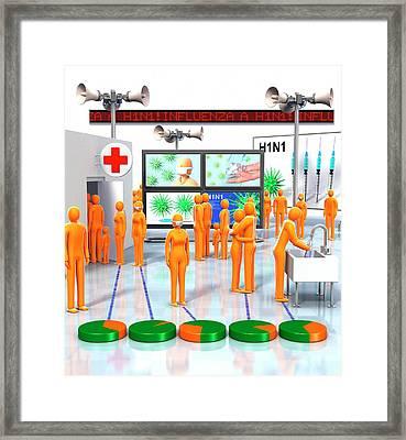 Pandemic Response Framed Print