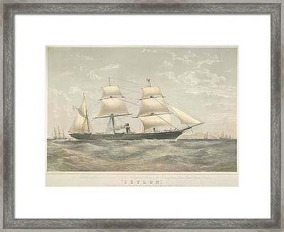 Pando Steamship 'ceylon' Framed Print