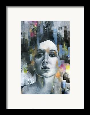 Pastel Portrait Framed Prints