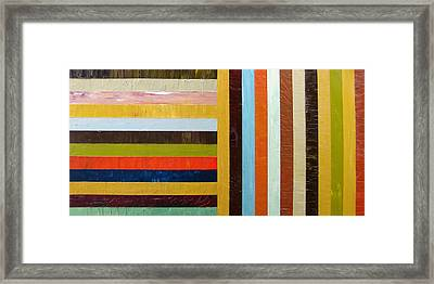 Panel Abstract L Framed Print