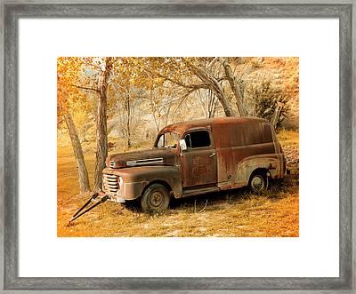 Panel Truck Framed Print by Leland D Howard
