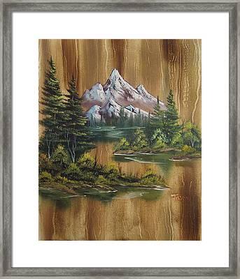 Paneled Mountains Framed Print by Samuel Jaycox