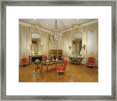 Paneled Room Unknown Paris, France Framed Print by Litz Collection