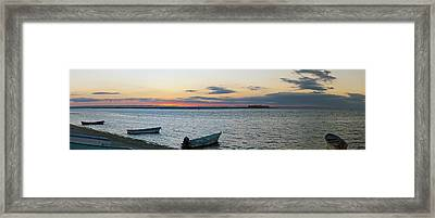 Pangas Fishing Boats On Beach, La Paz Framed Print