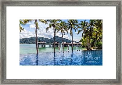 Pangkor Laut Bay Framed Print by Adrian Evans