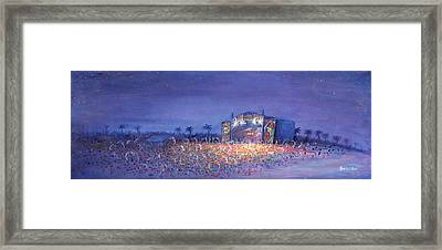 Panic El La Playa Widespread Panic Framed Print by David Sockrider