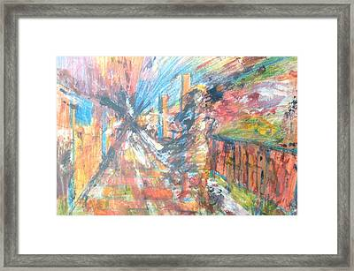 Panic Stricken Framed Print by Esther Newman-Cohen