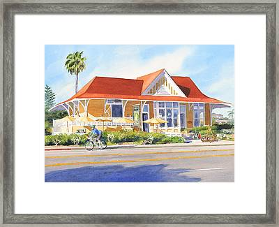 Pannikin Encinitas Framed Print by Mary Helmreich